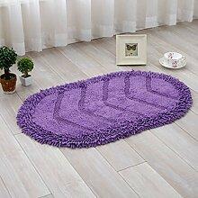BNMZX Badezimmer Küche Anti-Rutsch-Matten-Tür Wohnzimmer Schlafzimmer Teppich,50*80cm-Purple