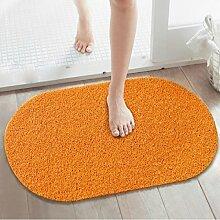 BNMZX Badezimmer Küche Anti-Rutsch-Matten-Tür Wohnzimmer Schlafzimmer Teppich 39.5 * 70cm,Orange-39.5*70cm