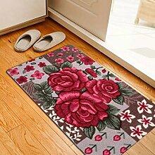 BNMZX Badezimmer Küche Anti-Rutsch-Matten-Tür Wohnzimmer Schlafzimmer Teppich,40*60cm-B