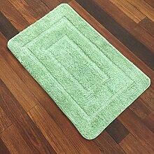 BNMZX Badezimmer Küche Anti-Rutsch-Matten-Tür Wohnzimmer Schlafzimmer Teppich 53 * 86cm,53*86cm-Green