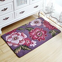 BNMZX Badezimmer Küche Anti-Rutsch-Matten-Tür Wohnzimmer Schlafzimmer Teppich,50*80cm-F