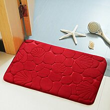 BNMZX Badezimmer Küche Anti-Rutsch-Matten-Tür Wohnzimmer Schlafzimmer Teppich,50*80cm-L