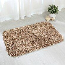 BNMZX Badezimmer Küche Anti-Rutsch-Matten-Tür Wohnzimmer Schlafzimmer Teppich,Coffee-50*80cm