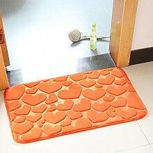 BNMZX Badezimmer Küche Anti-Rutsch-Matten-Tür Wohnzimmer Schlafzimmer Teppich 40 * 60cm,40*60cm-S