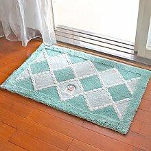 BNMZX Badezimmer Küche Anti-Rutsch-Matten-Tür Wohnzimmer Schlafzimmer Teppich,I-50*80cm