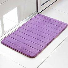 BNMZX Badezimmer Küche Anti-Rutsch-Matten-Tür Wohnzimmer Schlafzimmer Teppich,60*90cm-Purple