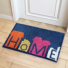 BNMZX Badezimmer Küche Anti-Rutsch-Matten-Tür Wohnzimmer Schlafzimmer Teppich,50*80cm-A