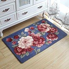 BNMZX Badezimmer Küche Anti-Rutsch-Matten-Tür Wohnzimmer Schlafzimmer Teppich,50*80cm-E