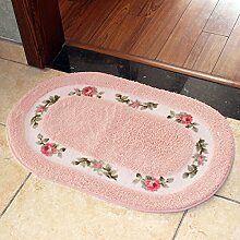 BNMZX Badezimmer Küche Anti-Rutsch-Matten-Tür Wohnzimmer Schlafzimmer Teppich,40*60cm-C