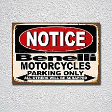 BNTN Notice Benelli Motorcycles Parking Only