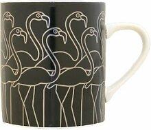 Bo Bendixen Becher Flamingo schwarz silber 0,3 l