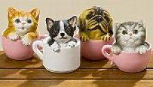 Bo Spardosen Set Katze 4tlg. - 4 niedliche Sparschweine im Katzen Design zu einem Preis