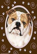 Bob Bulldog Pink Paw Garten Flagge 71,1x