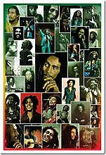 Bob Marley Foto Collage Poster Kork Pinnwand