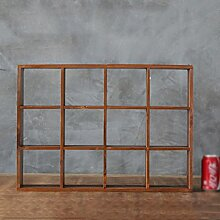BOBE SHOP- Amerikanischer Art-Retro- Massivholz-Geschäft Wand-Speicher-Rasterfeld Regale Dekorationen Anhänger ( Farbe : Old Wood Color )