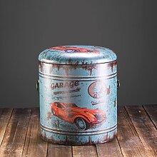 BOBE SHOP- Amerikanischer Retro- industrieller Art-hölzerner Aufbewahrungsbehälter / kurzer Schemel / Kleidungs-Speicher-Kasten / Spielzeug-Aufbewahrungsbehälter der Kinder, 100kg Last-Lager ( Farbe : #1 )