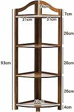 BOBE SHOP- Bambus Ecke Rahmen Blume Racks Wohnzimmer Partition Regal Bücherregal Lagerung ( größe : 93cm )