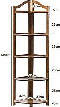 BOBE SHOP- Bambus Ecke Rahmen Blume Racks Wohnzimmer Partition Regal Bücherregal Lagerung ( größe : 120cm )