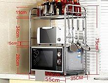 BOBE SHOP- Küche Regal Mikrowelle Rack Küchenutensilien Ofen Multifunktions Racking Rack ( größe : Two high 55 long )