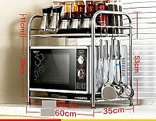BOBE SHOP- Küche Regal Mikrowelle Rack Küchenutensilien Ofen Multifunktions Racking Rack ( größe : Two 60 long )