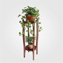 BOBE SHOP- Wohnzimmer Massivholz Blumenregale Massivholz Chlorophytum grün Rettich Blume Regal Indoor Multi - Layer - Bonsai - Rahmen Blumentopf Regal ( größe : 29*29*100cm )