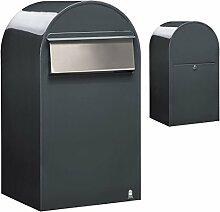 Bobi Grande B Briefkasten RAL 7016 grau, Klappe