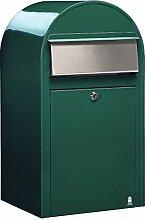 Bobi Grande Briefkasten RAL 6005 grün, Klappe aus