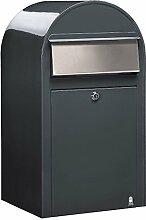 Bobi Grande Briefkasten RAL 7016 grau, Klappe aus