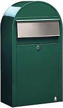 Bobi Grande S Briefkasten RAL 6005 grün, Klappe
