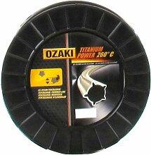 Bobine Fil Ozaki Titanium Power Pentagonal Diamètre (mm): 2.4 - Longueur (M): 290 - Herbes épaisses - Sols racailleux
