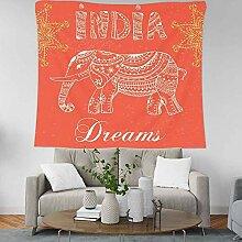BOBSUY Elefanten Mandala Indian Tapestry Home Wall