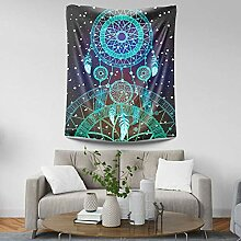 BOBSUY Moon Dream Catcher Wall Tapestry Home Wall
