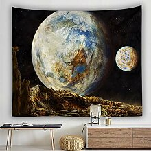 BOBSUY Planet Psychedelic Space Tapestry Home Wall