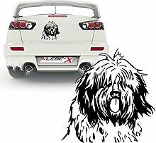 Bobtail Hundemotiv Aufkleber für Wände Autos Folientattoos   KB315