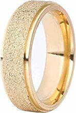 Bobury Männer Frauen Titan Stahl Ring Matte Paar Ringe Engagement Finger Ring Größe 7-10