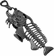 Bobury Western Art Männer Retro Edelstahl Fishbone hängende Halskette 3 Farben