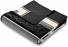 Bocasa Biederlack Thermosoft Decke/Überwurf, 150x 200cm, mehrfarbig, Baumwollmischung, Modern Paisley, 220 x 240