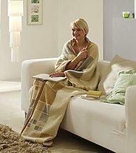Bocasa Biederlack Wohnmantel die Decke mit Ärmeln - Akzen