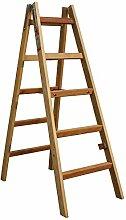 Bockleiter Massivholz 2 x 5 Stufen, 5 Stufen