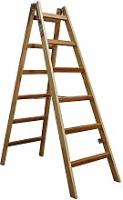 Bockleiter Massivholz 2 x 6 Stufen, 6 Stufen