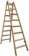 Bockleiter Massivholz Holzleiter 2x8 Stufen Typ