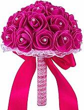 Bodarind Künstliche Blumen Brautstrauß