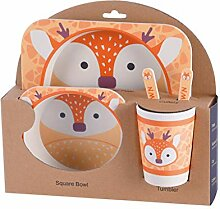 Bodbii Kinder-Geschirr-Set 5er