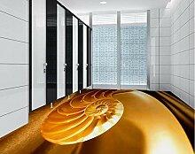 Boden 3D Tapete Wohnzimmer Muschelmuster