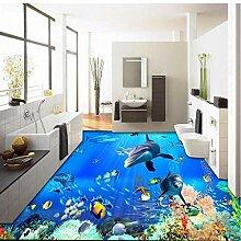 Boden Aufkleber Großes Wandbild 3D Stereo Delphin