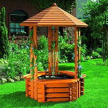 Boden Brunnen Forli aus Holz Garten Living
