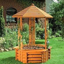 Boden Brunnen Forli aus Holz mit Licht Garten