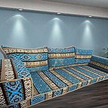 Boden-Couch arabische Stil Bodenmöbel, orientalische sitzecke, handgefertigte Boden Sofa-Set, arabische Majlis, arabische Jalsa, Boden Sitzcouch, Boden Kissen, orientalischen Boden Sitzgelegenheiten, Hookah Bar Möbel, Wohnzimmer Dekoration, Kelims Sofa-Se