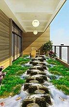 Boden des Gras-Nebenfluss-Nebenfluss-Brücken,3D