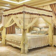 Boden, drei öffnen die Tür, Prinzessin Wind, Palast Moskitonetze, 1,8m2,0 m Bett, Edelstahl Stent , #3 , 200*220cm